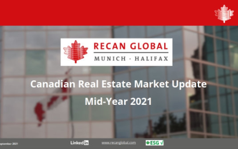 RECan Mid-2021 Canadian Real Estate Market Report Update is now available for download